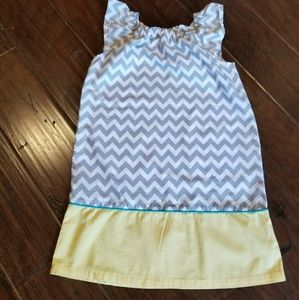Adorable chevron print girls dress